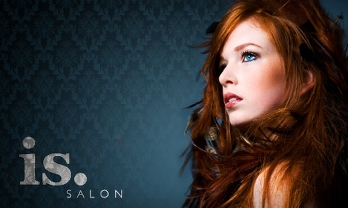 is Salon - Multiple Locations: $49 for Hairstyling and Makeup Application at is.Salon