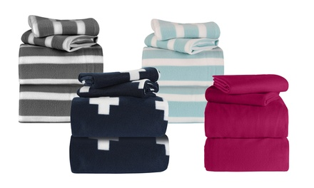Polar Fleece Patterned Sheet Set: Single $22, King Single $25, Queen $29 or King $35