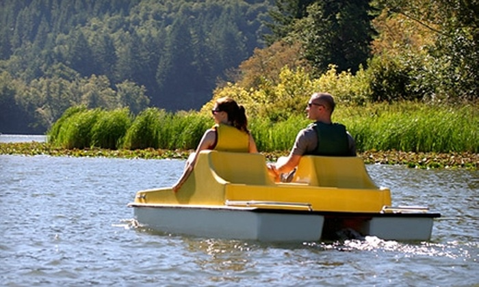 Loon Lake Lodge & RV Resort - Reedsport: $100 for Two-Night Stay and One-Hour Paddle Boat Rental at Loon Lake Lodge and RV Resort in Reedsport (Up to $207 Value). Two Options Available.