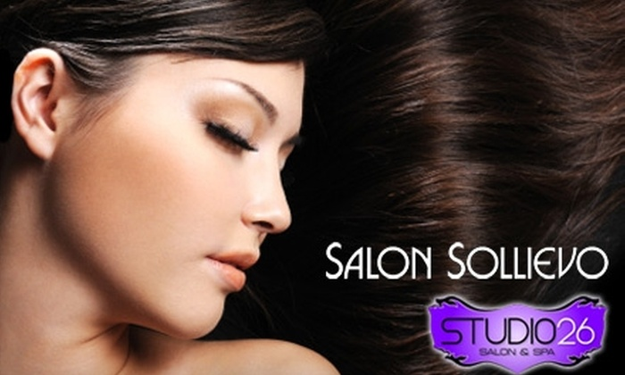 Salon Sollievo - Sioux Falls: $78 for Spa Package ($156 Value) or $53 for 30-Minute