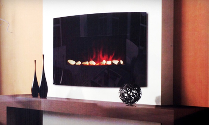 Electric Fireplace: $149 for a Black or Mahogany Electric Fireplace Heater with Remote Control ($499.99 Value)