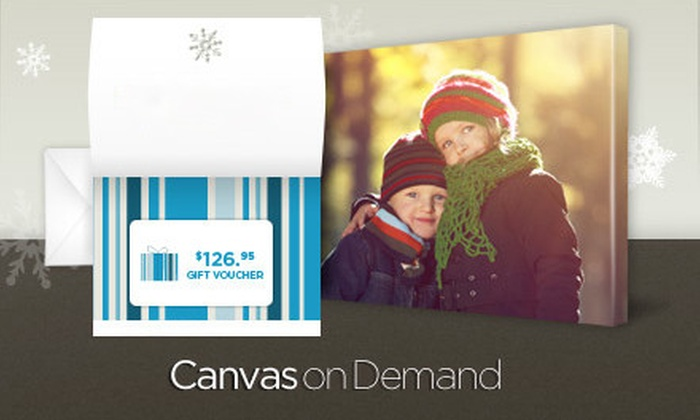 "Canvas On Demand - Multiple Locations: $45 for One Gift Voucher for 16""x20"" Gallery-Wrapped Canvas Including Shipping and Handling from Canvas on Demand ($126.95 Value)"