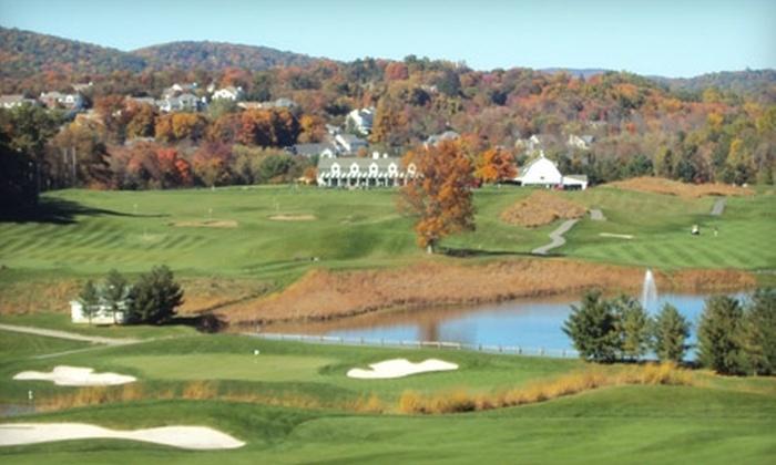Centennial Golf Club - Carmel: 18 Holes of Golf Plus Cart Rental and Bag of Range Balls at Centennial Golf Club in Carmel. Two Options Available.