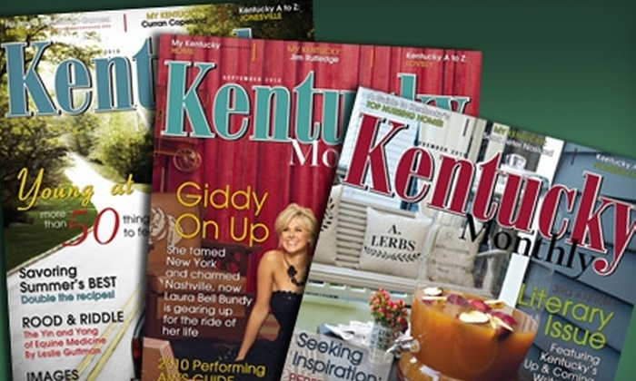 """""""Kentucky Monthly"""" - Evansville: $10 for a One-Year Subscription to """"Kentucky Monthly"""" Magazine"""