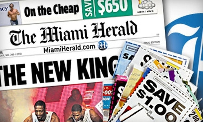 Miami Herald - Multiple Locations: $10 for One-Year Sunday Subscription to The Miami Herald ($80.13 value)