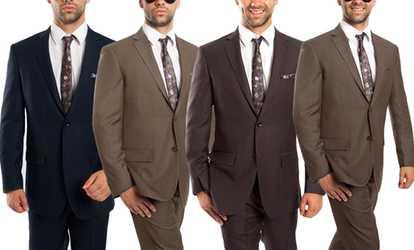 Groupon Demantie Men S Wool Suit 2 Piece