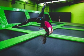 Flip Out - Prestons: Two-Hour Trampoline Entry for One ($13.50), Two ($26) or Four People ($51) at Flip Out, Prestons (Up to $108 Value)