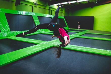 TwoHour Trampoline Park Entry: One $16, Two $30.50 or Four People $58 at Flip Out Prestons Up to $108 Value