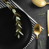 Black and Matte Gold Cutlery Set