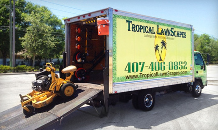 Tropical LawnScapes - Orlando: One or Two Pest-Control and Lawn Treatments or Four Weeks of Lawn Mowing from Tropical LawnScapes (Up to 59% Off)