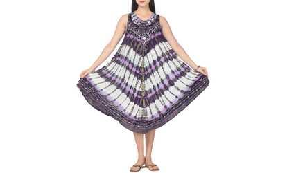 61c02891a32 Shop Groupon Women s Tie Dye Umbrella Tank Dress. NEW