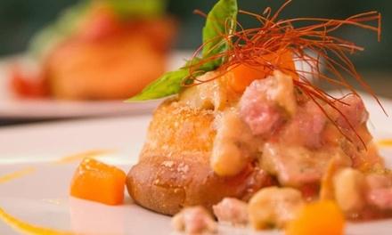 Menu mediterraneo, dolce e vino a 19,90€euro