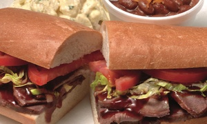 Sandwich Combos and Gift Cards Combos from Kinder's Meats Deli BBQ (Up to 41% Off). Ten Options Available.