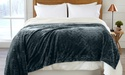 Reversible Berber and Sculpted-Velvet Plush Bed Blanket