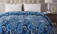 Lightweight Flannel Fleece Bed Blanket (Queen)