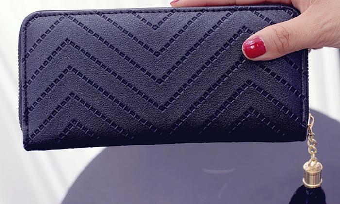 Groupon Goods Global GmbH: 1x oder 2x große und modische Geldbörse mit praktischem Reißverschluss in der Farbe nach Wahl
