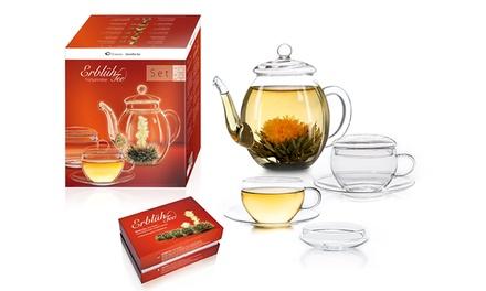 Fino a 36 infusi di tè floreale Creano in confezione regalo con o senza teiera da 500 ml e 2 tazze