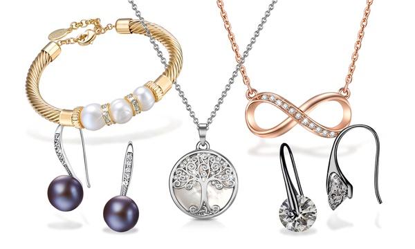 Set de bijoux avec collier en cristaux swarovski®, livraison gratuite