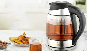 Culinary Edge Electric Glass Tea Kettle with Infuser