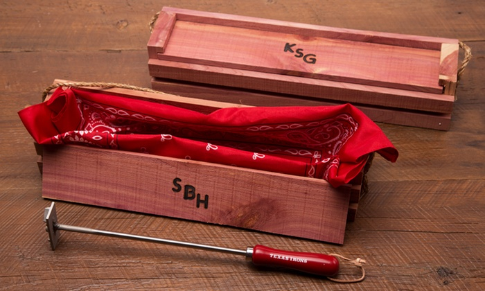Personalized Grilling Tools Texas Irons Groupon