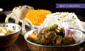 Curry Lounge: Three-Course Indian Meal for Two or Four with Wine at Curry Lounge (Up to 48% Off)