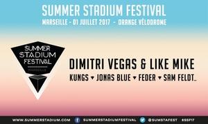 """Orange Vélodrome: Entrées pour le Summer Stadium Festival en """"Dance-Floor"""" ou en """"Clubber"""" le 01/07/17 à 18h dès 23 €au Orange Vélodrome"""