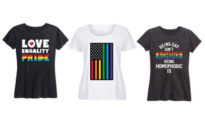 Women's LGBT Pride Month T-Shirt. Plus Sizes Available.