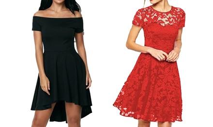 Robe en dentelle ou classique, mode et glamour