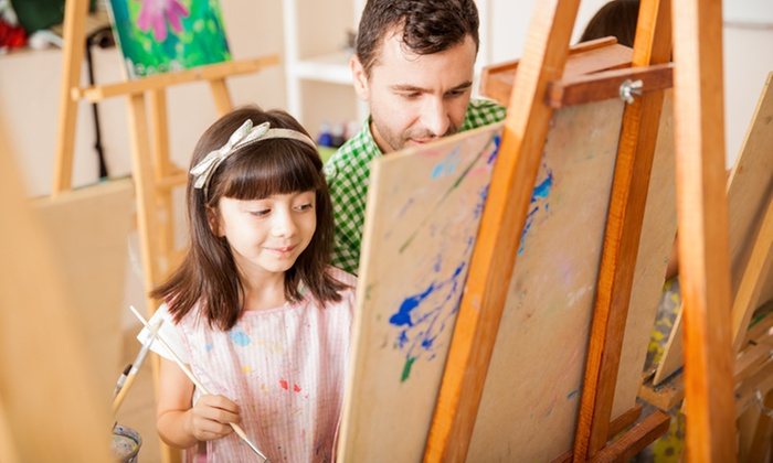 The Painted Penguin - Aurora: All-Ages Canvas Painting Class for One, Two, or Four with Pizza at The Painted Penguin (Up to 47% Off)