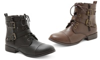 GROUPON: Unionbay Desire Combat Boots Unionbay Desire Combat Boots