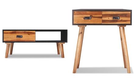 Muebles madera de acacia VidaXL:  mesa de centro, mueble para TV o mesa consola
