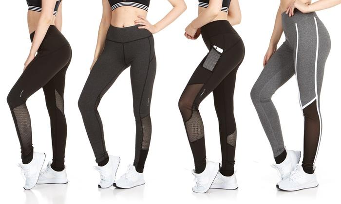 dd9976e86e6ec2 Up To 59% Off on Women's 4-Pack Active Leggings   Groupon Goods