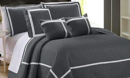 TwoTone Embossed Comforter Set: 6Piece or 10Piece