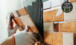 GP Reformas: Instalação de porcelanato, cerâmica ou azulejo em 25, 50, 100 ou 150 m² com a GP Reformas