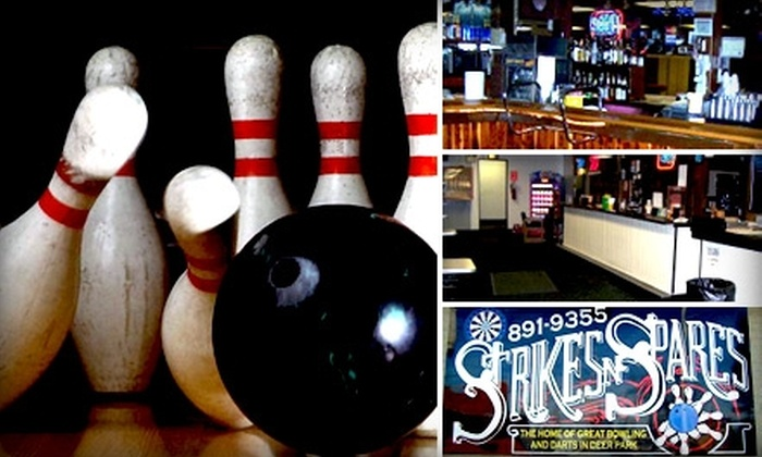 Strikes and Spares - Deer Park: $5 for Three Games of Bowling and Shoes at Strikes and Spares ($13.25 Value)