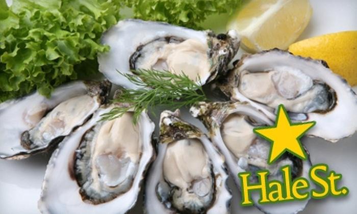 Hale Street Tavern, Sushi & Oyster Bar - Beverly: $25 for $50 Worth of Seafood at Hale Street Tavern, Sushi & Oyster Bar in Beverly