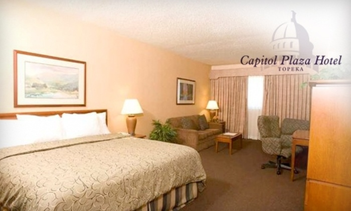 Capitol Plaza Hotel Topeka - Chesney Park: $69 for a One-Night Stay at the Capitol Plaza Hotel Topeka (Up to $140 Value) Plus Choice of Local Wine or Beer and Breakfast for Two