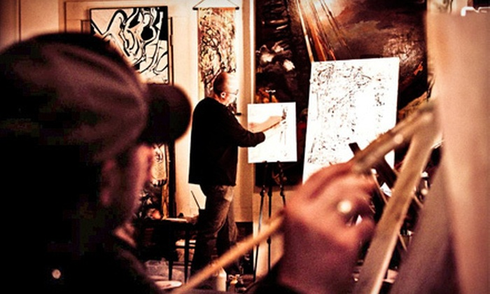 Colors & Bottles - Multiple Locations: $17 for a Painting Class Hosted at Local Restaurant or Gallery from Colors & Bottles ($35 Value)