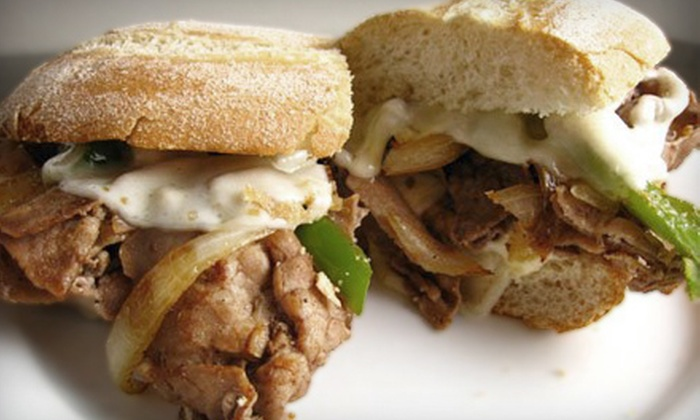 Grace Street Grill - Downtown Norfolk: $15 for Five-Meal Punch Card for Cheesesteaks, Sandwiches, or Breakfast Items at Grace Street Grill in Norfolk (Up to $35 Value)