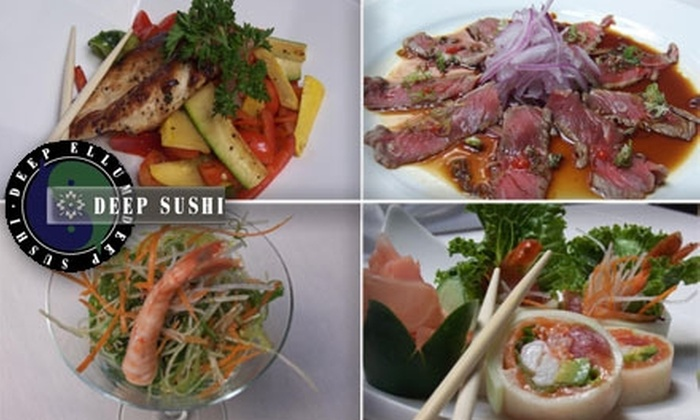 Deep Sushi - East Dallas: $10 for $25 Worth of Fresh Sushi and Drinks at Deep Sushi