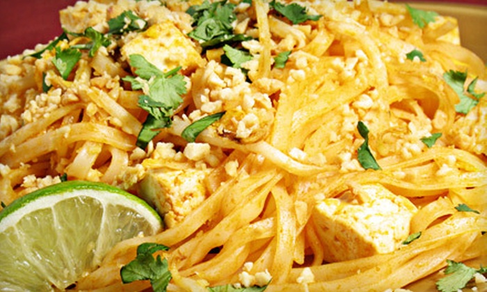 Cafe Milagro's - Byron: Thai Meal with Entree, Appetizer, and Drink for Two or Four at Cafe Milagro's (Up to 68% Off)