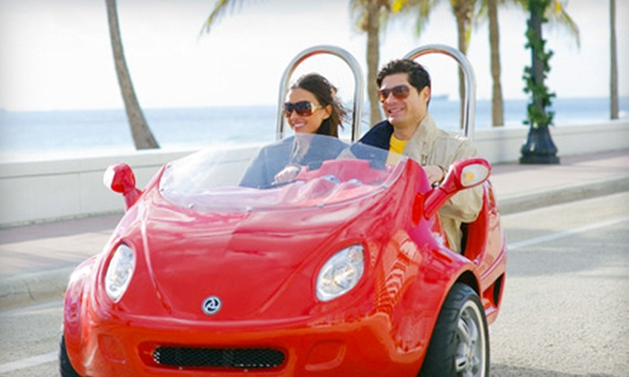 GW Tours - Downtown Huntington Beach: $45 for a Two-Hour ScootCoupe Rental for Two at GW Tours in Huntington Beach