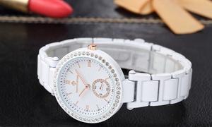 oferta: Relojes de cerámica con Swarovski® por 29,90 € (70% de descuento)