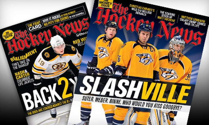 "The Hockey News - Willowdale: $23 for a One-Year Subscription to ""The Hockey News"" Magazine ($52.95 Value)"