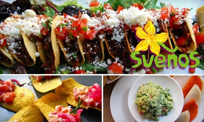 Sueños - Chelsea: $20 for $40 Worth of Upscale Mexican Cuisine and Drinks at Sueños