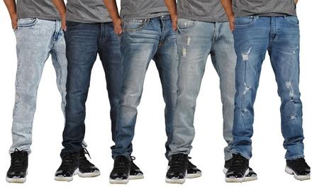 Indigo People Men's Straight Jeans