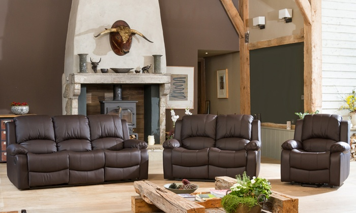 Reclining Leather Sofa Collection