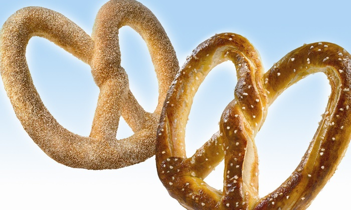 Auntie Anne's - Multiple Locations: $8 for Four Soft Pretzels at Auntie Anne's ($15.56 Value)