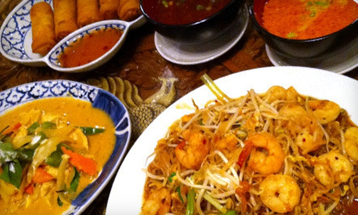 Bangkok Thai Cuisine & Thai Orchid - Multiple Locations: Thai Dinner for Two or Four at Bangkok Thai Cuisine (Up to 51% Off)