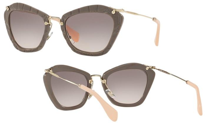 c027e9f46f4 Miu Miu Women s Cat Eye Sunglasses